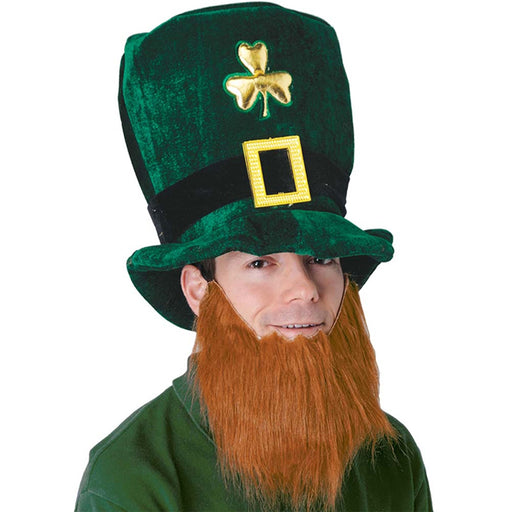 st patrick's day hat with beard, Leprechaun Hat with Attached Beard
