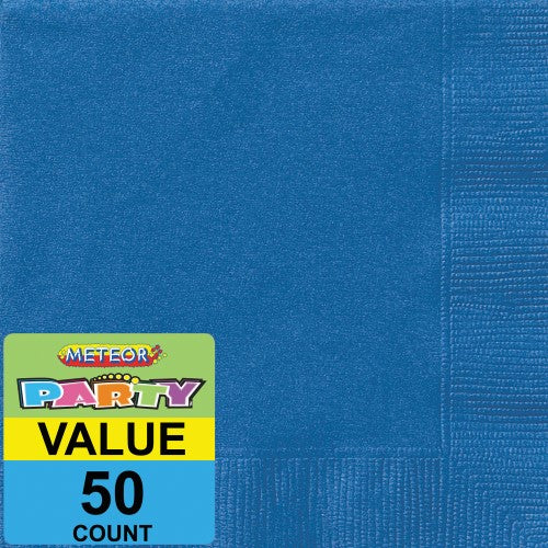 50pk royal blue napkin