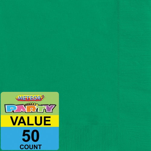 50pk Emerald green napkin