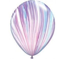 "11"" Qualatex SuperAgate Marble Assorted Colour Latex Balloon"