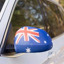 Australia day car mirror cover