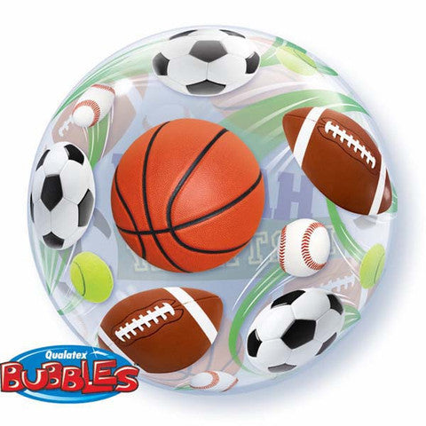 sport Birthday Bubble Balloon, basket balloon balloon, soccer ball balloon