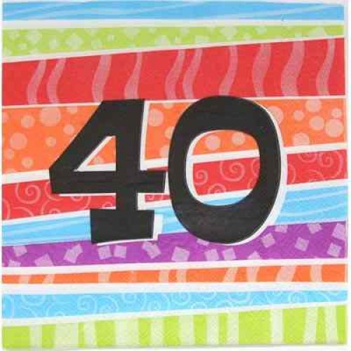 40th birthday napkin