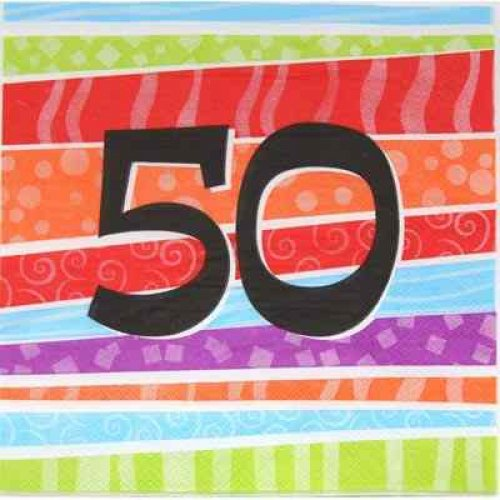50th birthday napkin