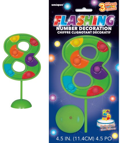 Flashing Cake topper