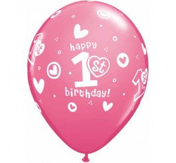 1st birthday girl balloon