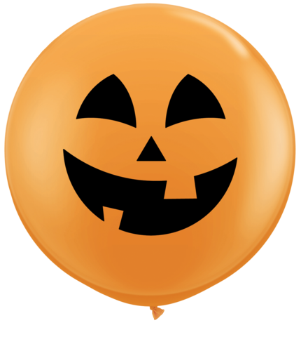 Pumpkin face balloon