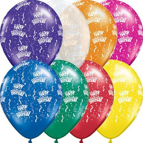 Assorted Colours 10 HAPPY 80TH BIRTHDAY AIR FILL BALLOONS
