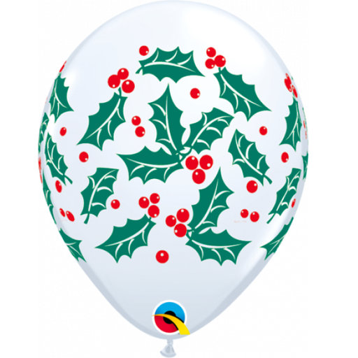 Christmas balloon with berry and holly