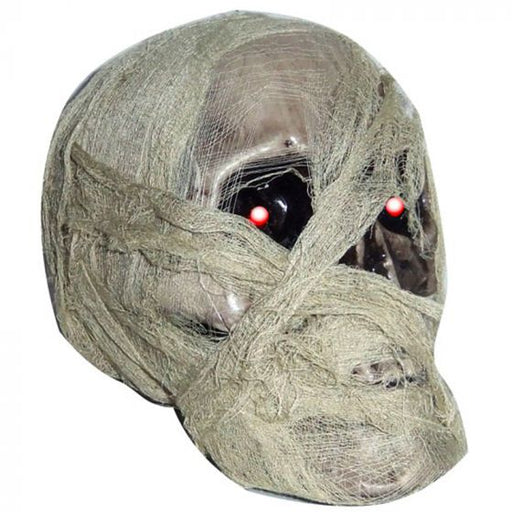 Mummified Light Skull Head Prop