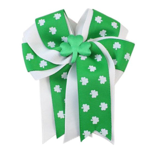 st patricks day hair bow, st patricks hair bow clip, shamrock hair bow