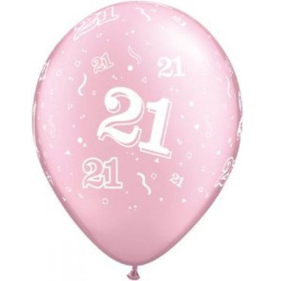 21st birthday pink balloon