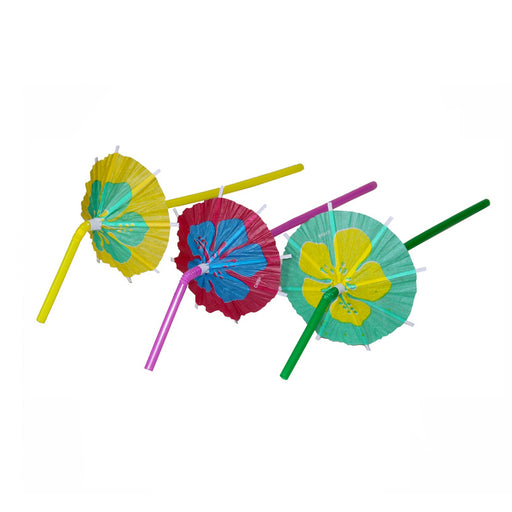 cocktail umbrella straws