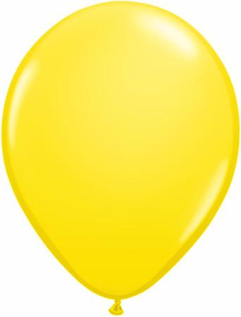 "11"" Qualatex Plain Latex Balloon - Round Standard Yellow"