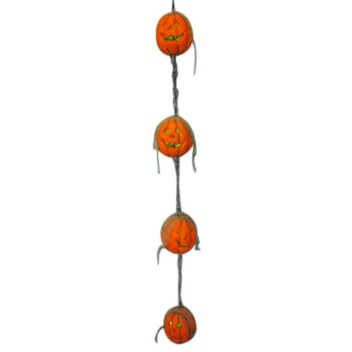 pumpkin lights, pumpkin garland