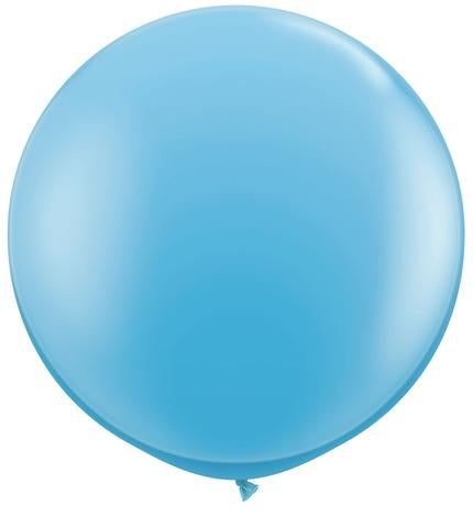 3ft Qualatex Plain Latex Balloon - Round Standard Light Blue