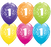 "11"" Qualatex 1st Birthday Tropical Assorted Colour Latex Balloon"