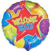 "18"" Welcome back w/stars Foil balloon"