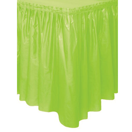 Lime green table skirt