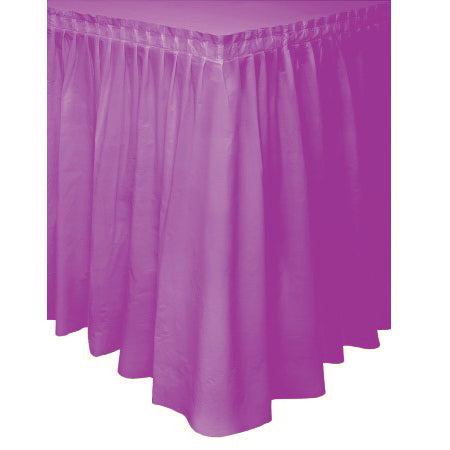 purple table skirt