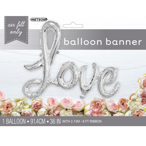 love foil balloon banner