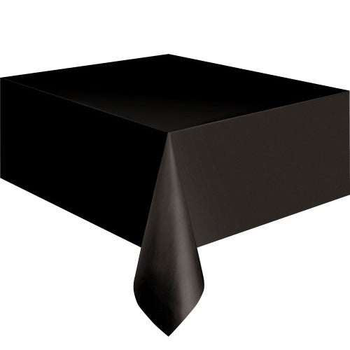 Black Rectangle Plastic Tablecover