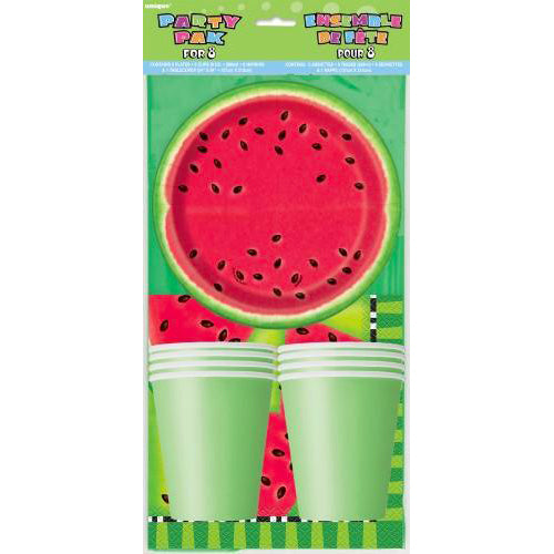 watermelon tablecloth, watermelon tableware
