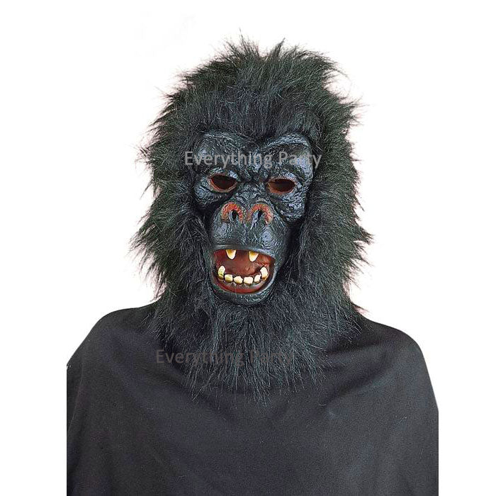 Black Gorilla Mask With Hair