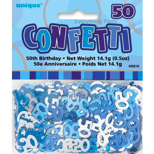 50th birthday scatters, birthday confetti