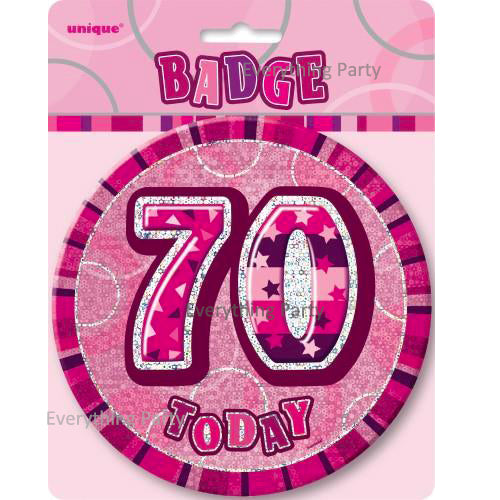 70th Birthday Jumbo Badge