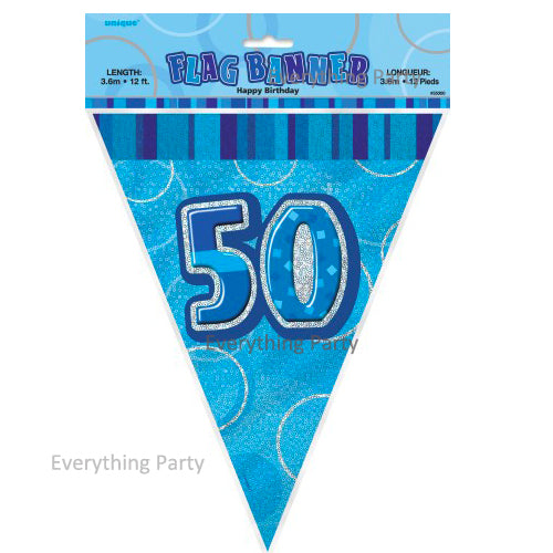 50th Birthday Flag Banner Decoration