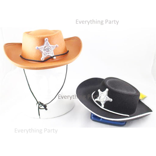 kids cowboy hat, sheriff hat with badge