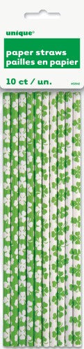 st patrick's day paper straws