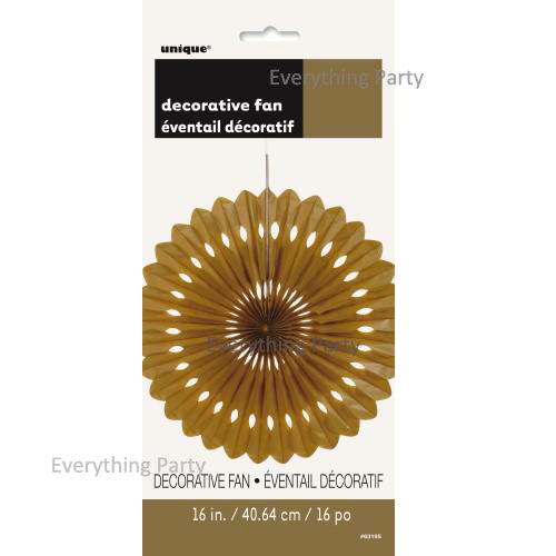 Gold Hanging Paper fan decoration