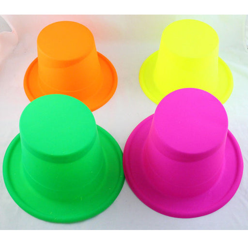 neon top hat, colourful top hat