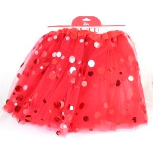 red tutu with dots