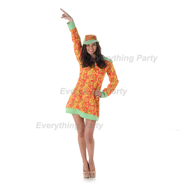 hippie costume, groovy girl costume