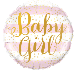 baby girl balloon, baby shower balloon
