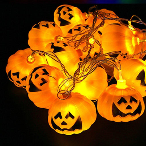 8pc Pumpkin LED Lights Lantern Garland