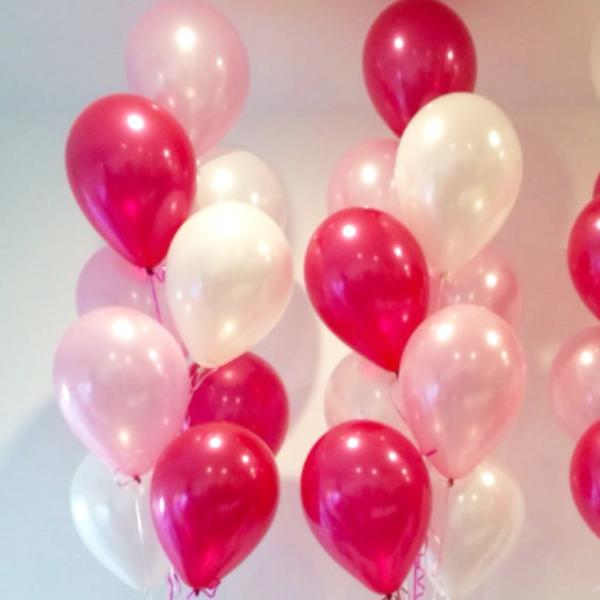 "11"" Qualatex Plain Latex Balloon - Round Pearl Magenta"