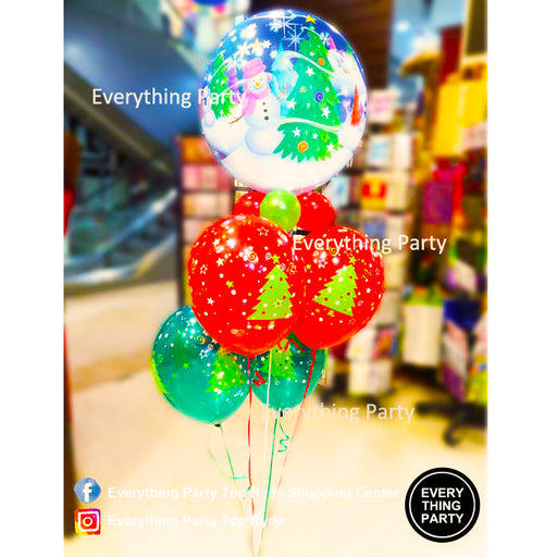 Christmas tree HELIUM balloon bouquet