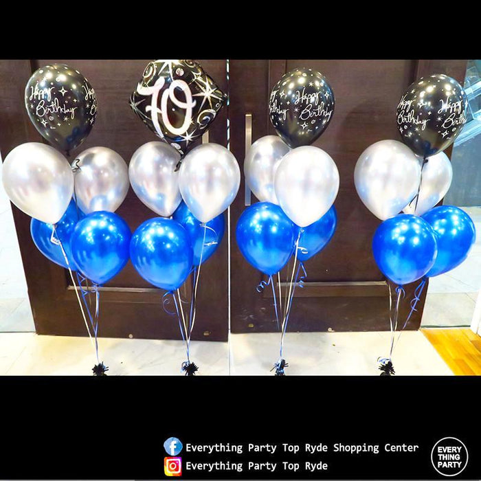 70th Birthday Helium Balloon Arrangemnet