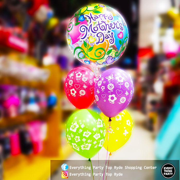 Mother's Day Bubbles helium balloon bouquet
