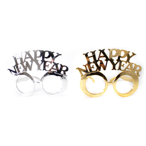 happy new year party glasses