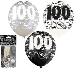 6Pk 100th Birthday-Black