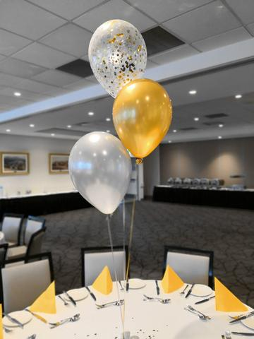 "11"" Qualatex Plain Latex Balloon - Round Metallic Gold"