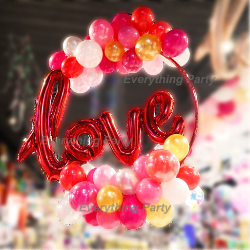 Love balloon decoration , wedding balloon decoration