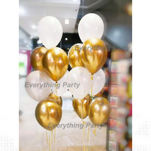 qualatex Chrome Gold helium balloon bouquet