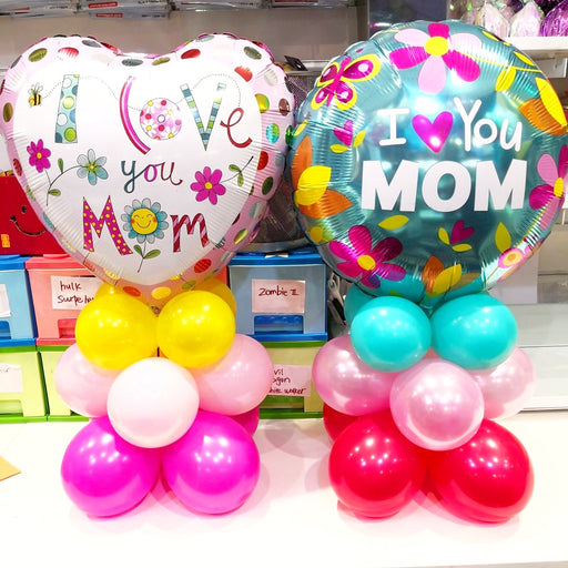 mother's day table balloon arrangement