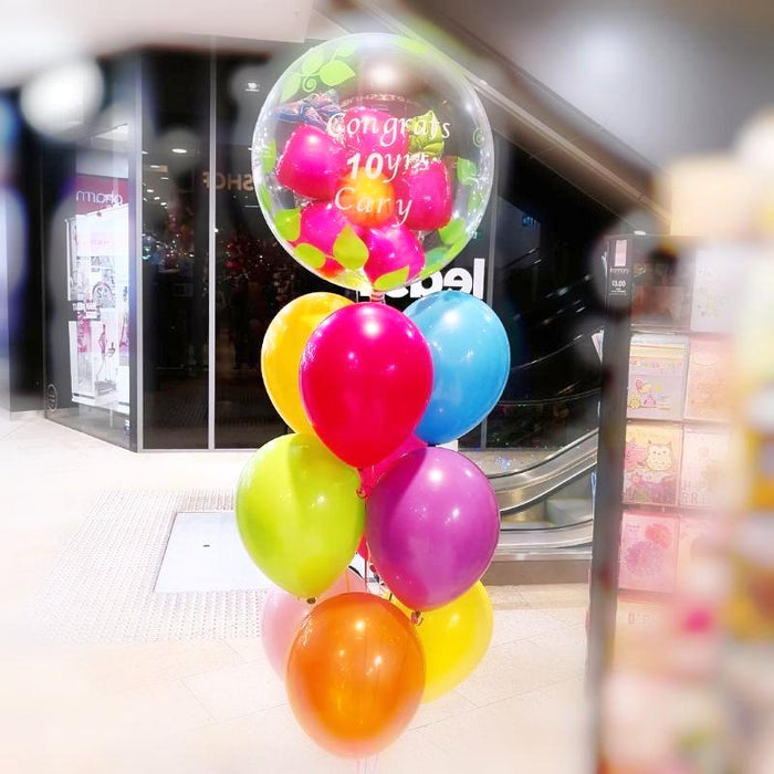 double bubbles Birthday balloon set